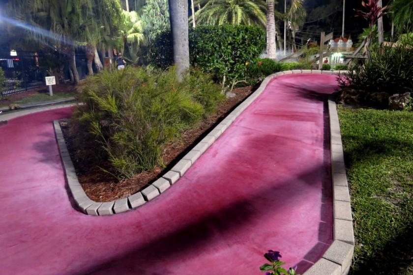 Eine von insgesamt 18 Bahnen im Castle Golf in Fort Myers