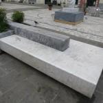 Carrara Marmor Alltag Gebrauch Bank