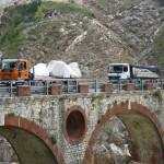 Carrara Marmor Steinbruch LKW