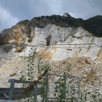Carrara Steinbruch Marmor