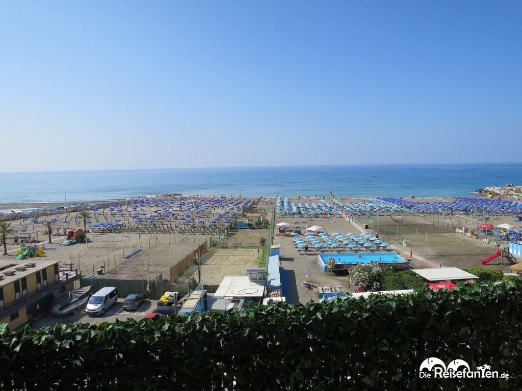 Chiavari Strand Ausblick Balkon