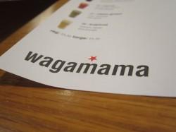Das Logo des Wagamama ist auf den Platzblättern gedruckt