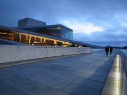 Das Gebäude der Oper in Oslo