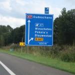 Autobahn Schild Ausfahrt Winschoten