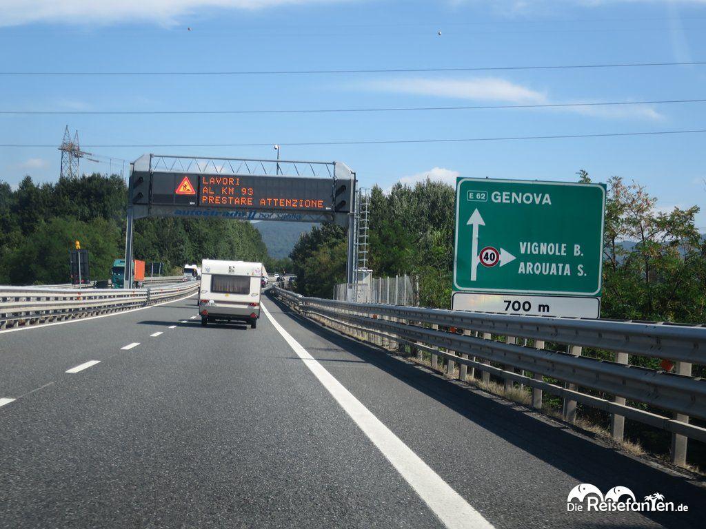 Auto-Verkehr in Italien