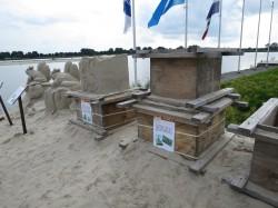 Entstehung Prozess Sandskulpturen Winschoten