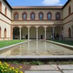 Innenhof im Castello Sforzesco in Mailand