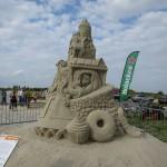 Knusperhaus Sandskulptur Winschoten