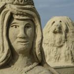 Nahaufnahme Sandskulptur Winschoten