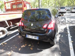 Parkplatz Auto Frankreich