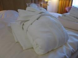 Im Vila Vita Burghotel stehen Saunatücher und Bademäntel für den Aufenthalt zur Verfügung.