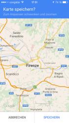 Offline-Karten lassen sich in der Google Maps App speichern
