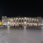 Die Piazza Brà in Verona mit Blick auf die Arena di Verona