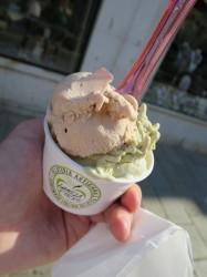 Sehr leckeres Eis gab es bei La Mela Verde in Venedig