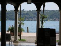 Ausblick auf den Gardasee in Salò
