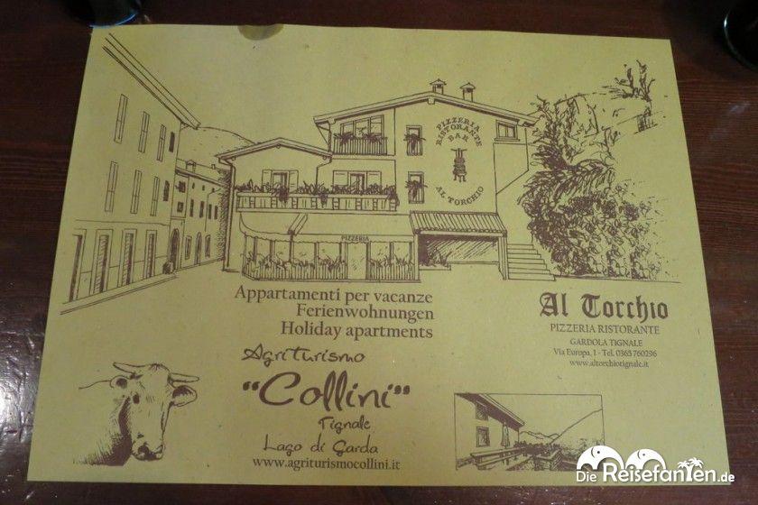 Die Pizzeria Al Torchio in Tignale bietet auch Ferienwohnungen an