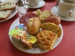 Frühstück im Hotel Garni Al Poggio in Piovere