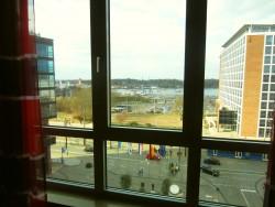 Aussicht über Rostock hin zum Stadthafen