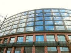 Das Gebäude des Radisson Blu in Rostock