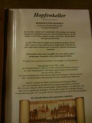 Teil der Speisekarte im Hopfenkeller in Rostock