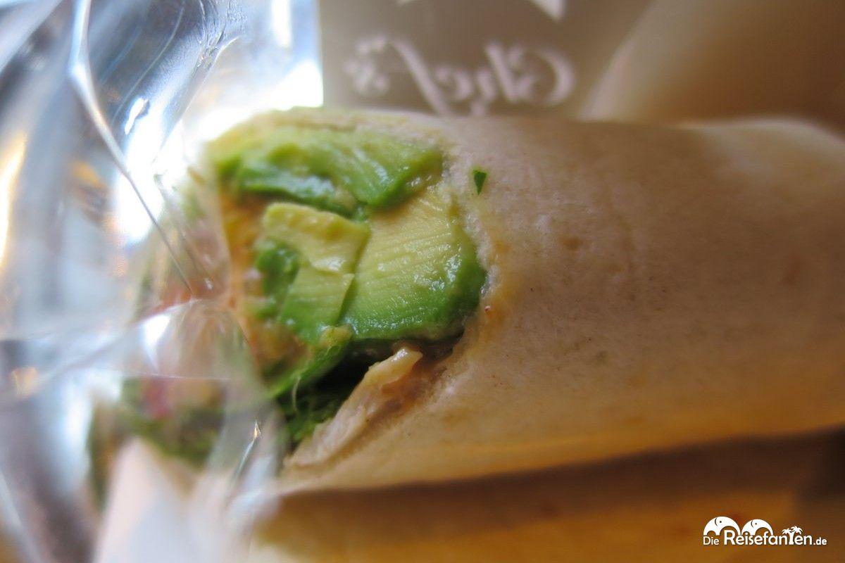 Unser Pret a Manger Sandwich kam mit Avocado und Hähnchen