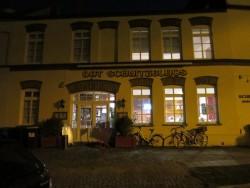 So sieht Dat Schnitzelhus in Wismar von außen aus