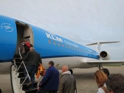 Mit dem KLM Cityhopper ging es zunächst von Bremen nach Amsterdam