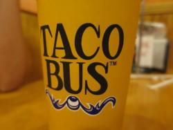 Auch die Becher sind schön designt im Taco Bus in Tampa