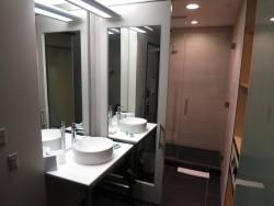 Das offene Badezimmer im Aloft Hotel in Tampa