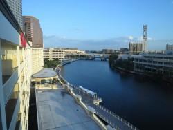 Die Aussicht aus unserem Hotelzimmer im Aloft Hotel in Tampa