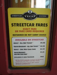 Die Preise der historischen Straßenbahn in Tampa