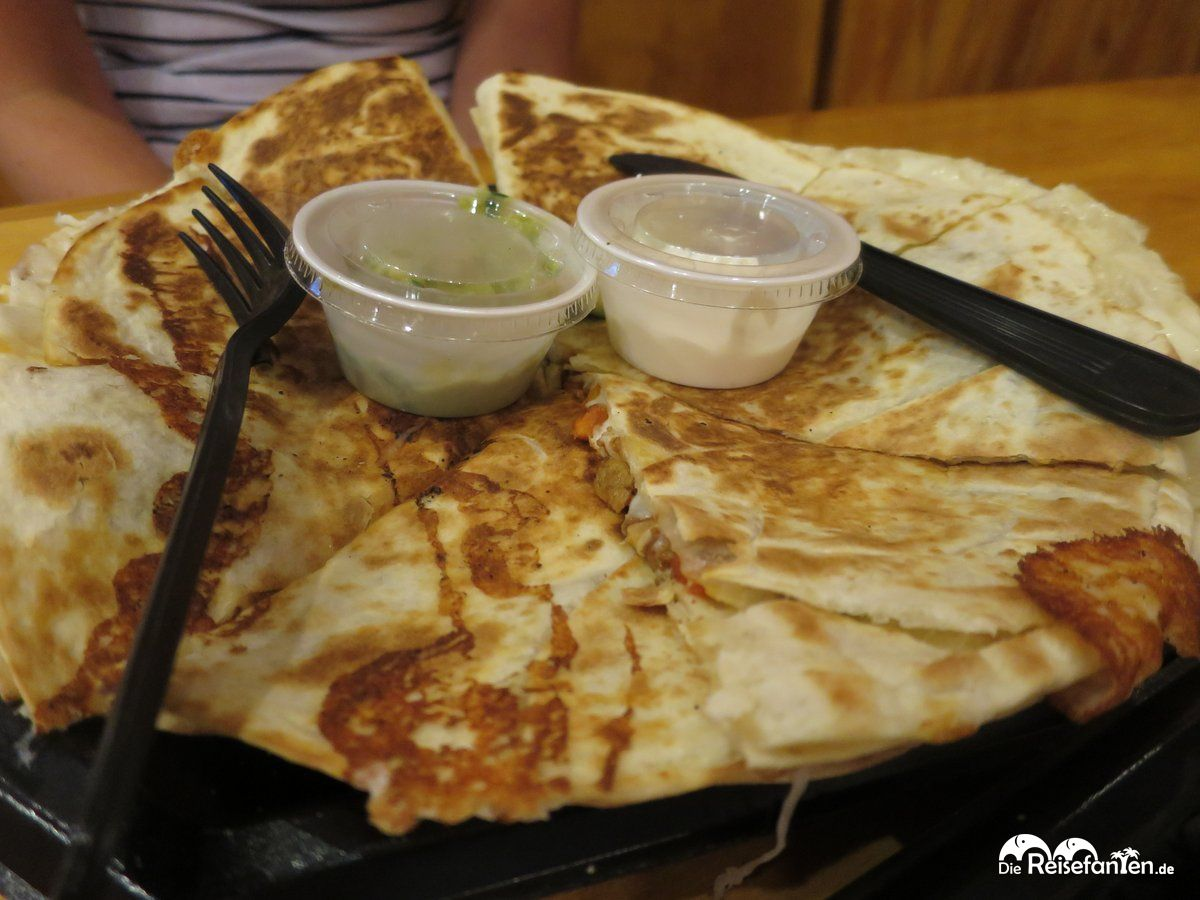 Leckere Quesadillas im Taco Bus in Tampa