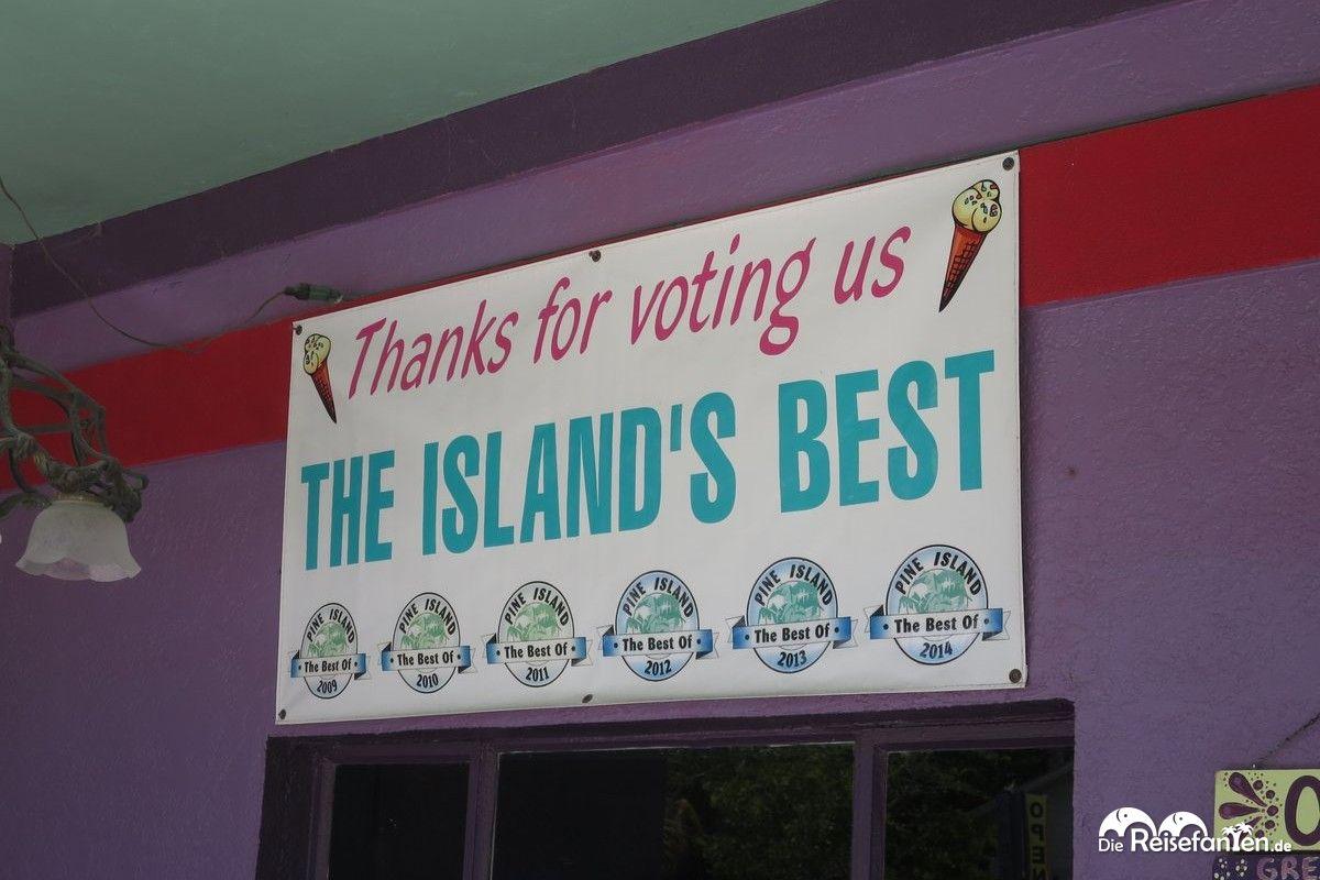Sechs Jahre in Folge ist das Great Licks beste Eisdiele der Insel