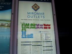 Übersicht der Miromar Outlets in Estero in Florida