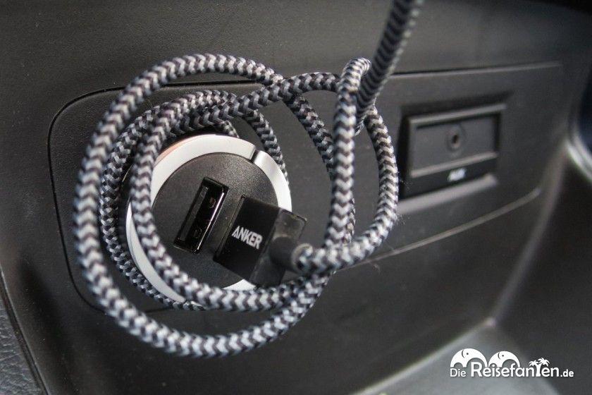 Aufgewickelt behält das ANKER Nylon USB Kabel seine Form noch besser