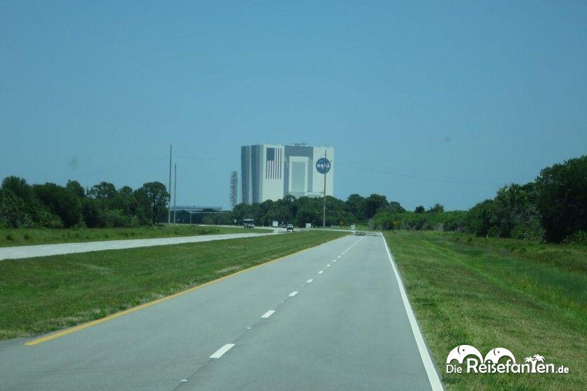 Blick aus dem Bus im Kennedy Space Center