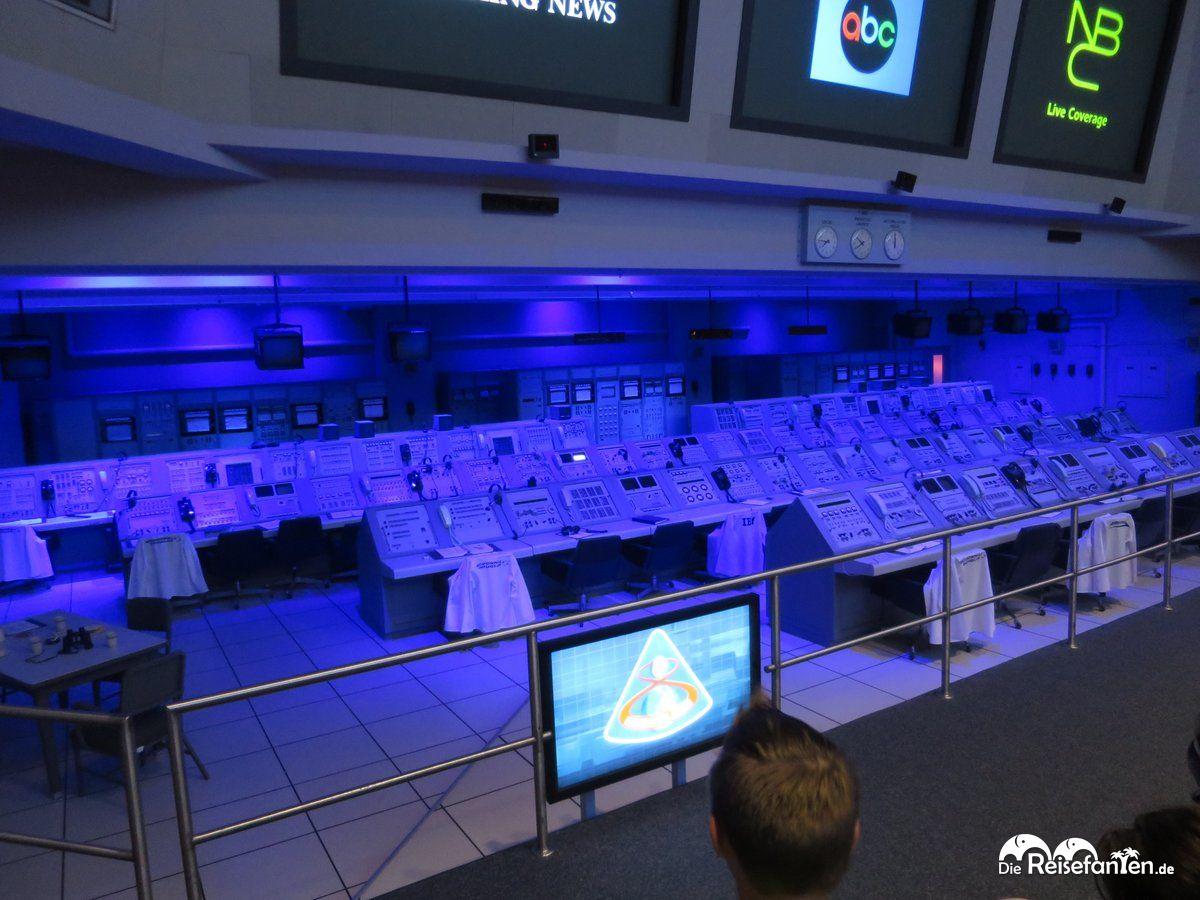 Der Kontrollraum im Kennedy Space Center ist noch originalgetreu erhalten