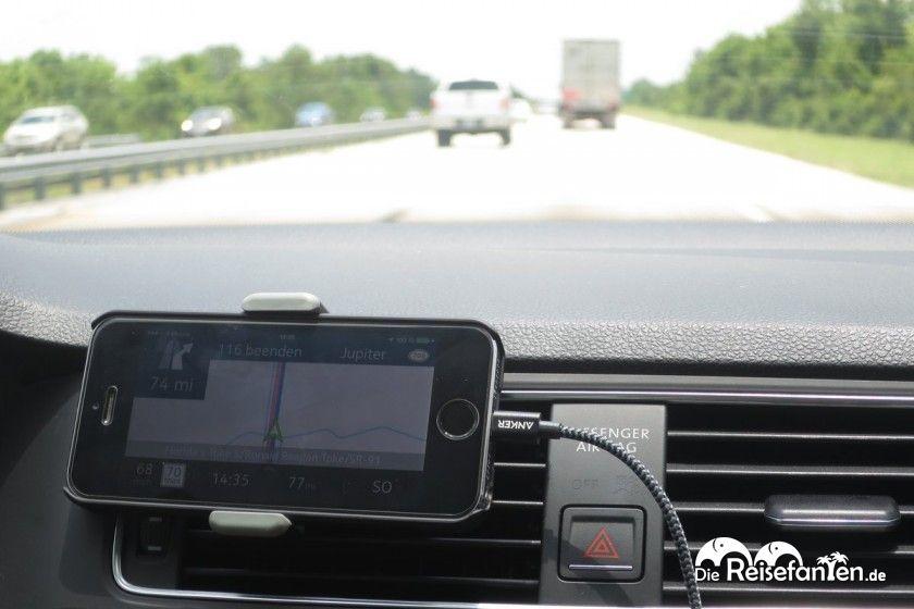 Eni Smartphone eignet sich prima zum Navigieren in den USA