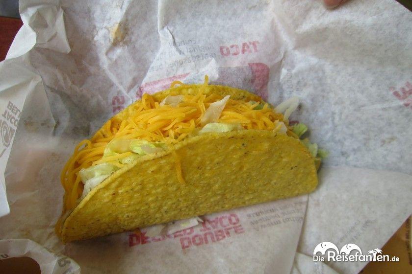 Ein typischer Taco bei Taco Bell