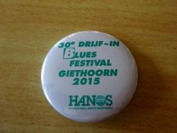 Eintritt zum jährlichen Blues Festival in Giethoorn gewährt so ein Button