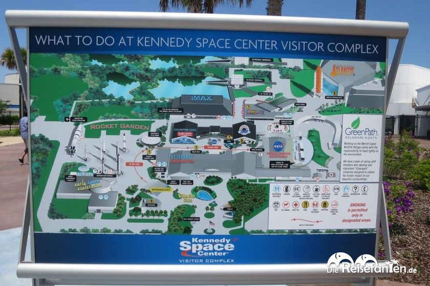 Lageplan des Kennedy Space Centers