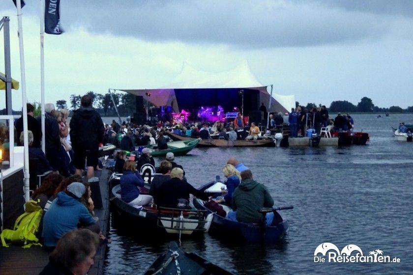 Seebühne beim Blues Festival in Giethoorn