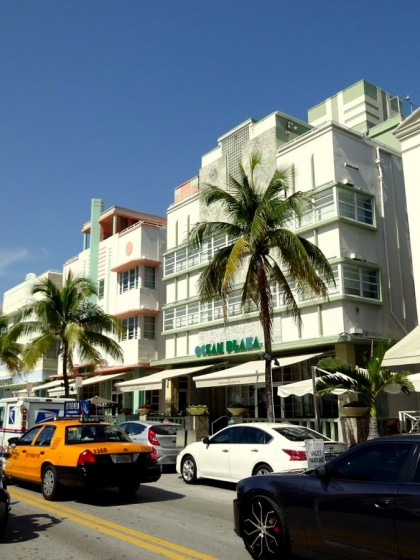 Art Deco Viertel am Ocean Drive in Miami South Beach in Florida