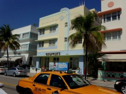 Art Deco Architektur am Ocean Drive in Miami South Beach in Florida