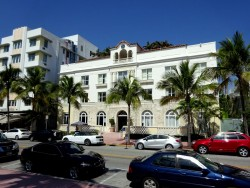 Die Versace Vila am Ocean Drive in Miami South Beach in Florida
