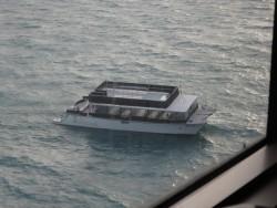 Ein leeres Tenderboot