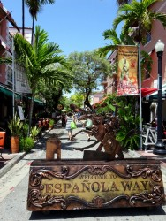 Espanola Way in Miami South Beach in Florida