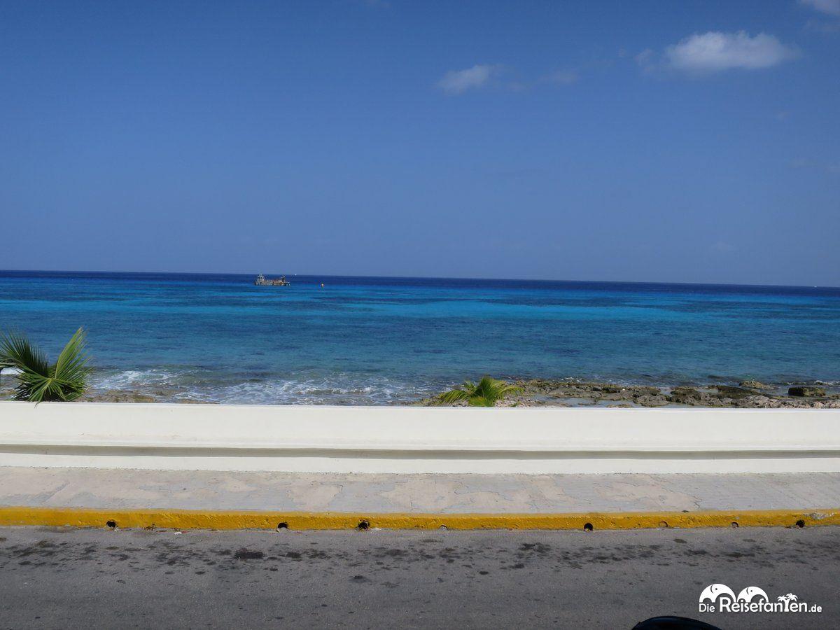Ausblick von Cozumel aufs Meer