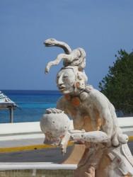 Die Göttin Ix Chel auf Cozumel in der Nahaufnahme