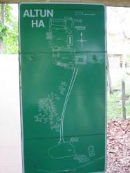 Lageplan der Ruinenstadt Altun Ha